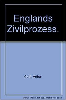 Book Englands Zivilprozess.