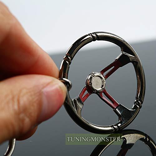 Wall of Dragon Racing Car Steering Wheel Zinc Alloy Mini Keychain Keyring keyfob Pendent