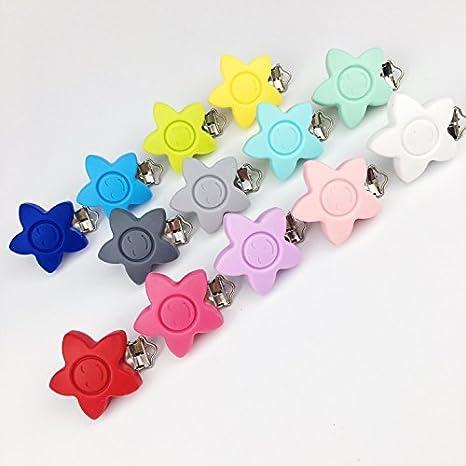 Mamimami Home Schnuller Clips Teether Clip ökologisch 10pc BPA frei Solid Color Sensorik Spielzeug Baby Zubehör