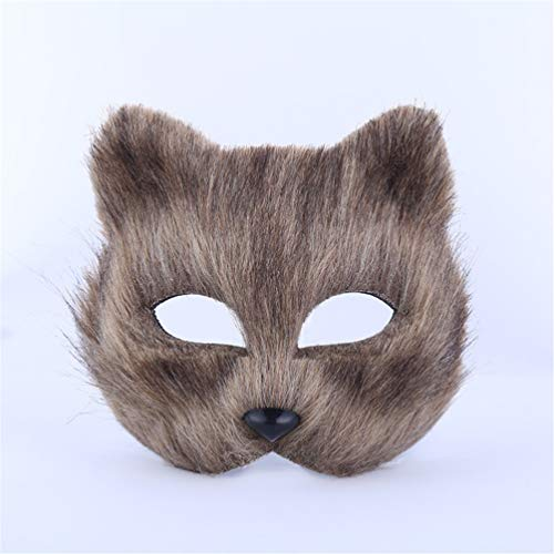 Half Face Mask Christmas Party Cosplay Mask Halloween Costume Prop -