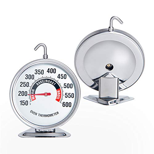 Extra Large Dial Oven Thermometer Clear Large Number Easy-to-Read Oven Thermometer with Hook and Panel Base Hang or Stand in Oven Accurately Monitoring 150℉- 600℉ for Professional Kitchen Home Cooking