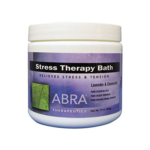 (Abra Stress Therapy Sea Salt Bath, Lavender & Chamomile, 17 Ounce)