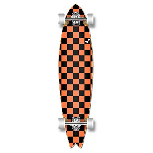 Yocaher Special Pro Graphic Fishtail Complete Longboard Skateboard w/ 70mm Wheels (Checker ()