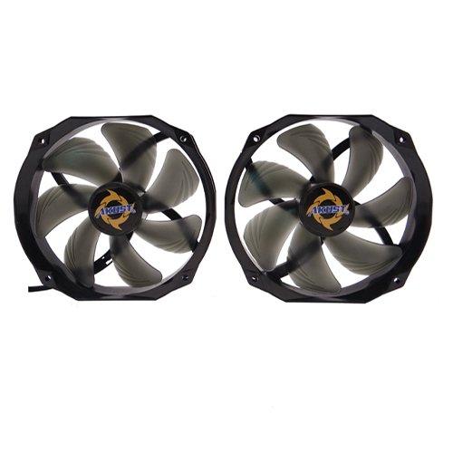 - Akust 140mm Blade 120mm Frame Sleeve Bearing PWM Cooling Fan 2 PCS