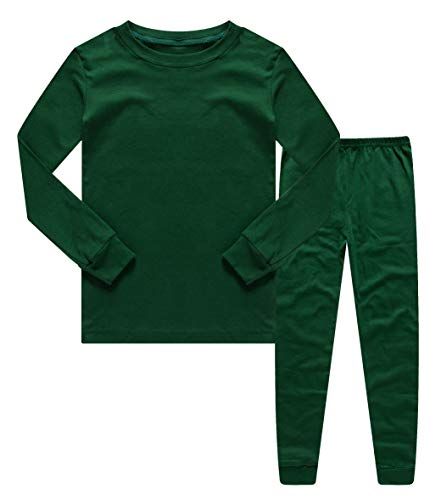 - Family Feeling Boys Girls Kids Pajamas Solid Colors 2 Piece Pajama Pants Set 100% Cotton Green Size 10