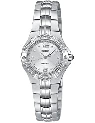 Seiko Womens SXGN25 Coutura Diamond Silver-Tone Watch