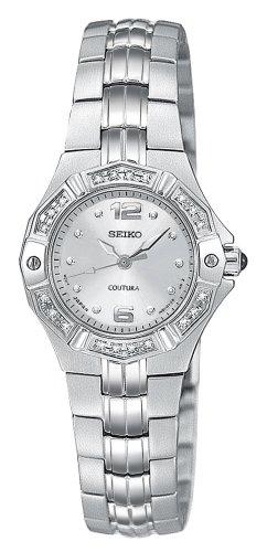 Seiko Women's SXGN25 Coutura Diamond Silver-Tone Watch