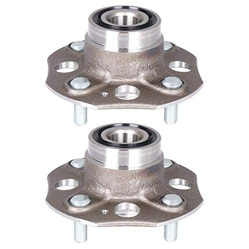 Bearing Assembly Rear 513080 fit Honda Accord 1990-1997 Replacement for 4 Lugs Wheel Bearing Hubs Without ABS 2 pcs ()