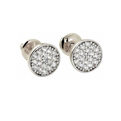 apop nyc Mini Twinkle Sterling Silver Pave CZ Screw-Back Stud Earrings by apop nyc