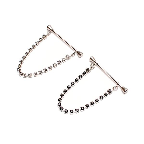 AMANOGAWA-Mens-Swarovski-Chain-Collar-Pin