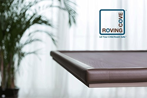 Large Product Image of Roving Cove Edge Guards & Corner Guards set - Jumbo Coffee (brown) - Safe Edge & Corner Cushion - PRE-TAPED CORNERS; Childproofing; Baby Safety; Furniture Bumper; Baby Proofing; Table Protector