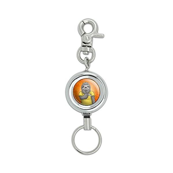Portrait Of A Sloth Lanyard Belt Id Badge Key Retractable Reel Holder -
