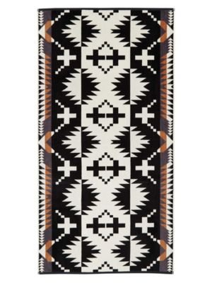 - Pendleton Woolen Mills Wool Jacquard Spider Rock Bath Towel Black