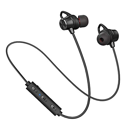Ayyie Bluetooth Headphones, Sports Bluetooth Earbuds [10 Hours Playtime] V4.1 Wireless Headphones Earphones with Mic, CVC6.0 Noise Cancellation Compatible for iPhone XS 8 7 and Samsung