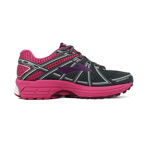 Brooks Defyance 10 Women's Running Shoe Ebony/Pink/Plum Size 5.5 B(M) US