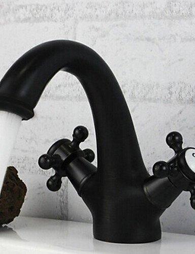 ZWeißGriffe Öl-rieb Bronze-Finish klassischen Messing Waschbecken Wasserhahn