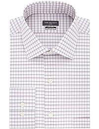Men's Flex Collar Regular-Fit Stretch Dress Shirt (Pink...
