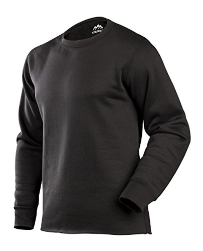 ColdPruf Men's Expedition Single Layer Long Sleeve Base Layer Crew Neck Top, Black, X-Large