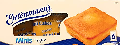Mini Pound Cake - Entenmann's | Minis Pound Cake | Delicious | Yummy | Tasty | 6ct Individually wrapped | 9.25oz | 1 Box |