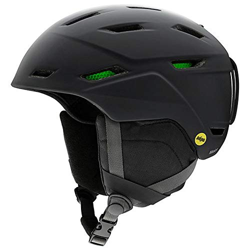 Smith Optics Mission Adult Ski Snowmobile Helmet - Matte Black/Large