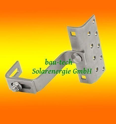 Crochets de Toit pour Photovoltaïque 3 Compartiments Réglable Acier Inox