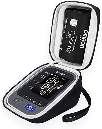 BOVKE Hard Travel Carrying Case for Omron 10 Series Wireless Upper Arm Blood Pressure Monitor with Cuff that fits Standard and Large Arms BP786 BP785 ,Black