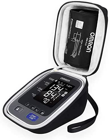 BOVKE Hard Travel Carrying Case for Omron 10 Series Wireless Upper Arm Blood Pressure Monitor with Cuff That fits Standard and Large Arms (BP786/BP785),Black