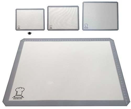 BackeFix - Silikon Backmatte - einfaches backen mit dem modernen Backpapier - hitzebeständig, wiederverwendbar, BPA frei, zuschneidbar, antihaftbeschichtet | 2 Jahre Zufriedenheitsgarantie (40x30)