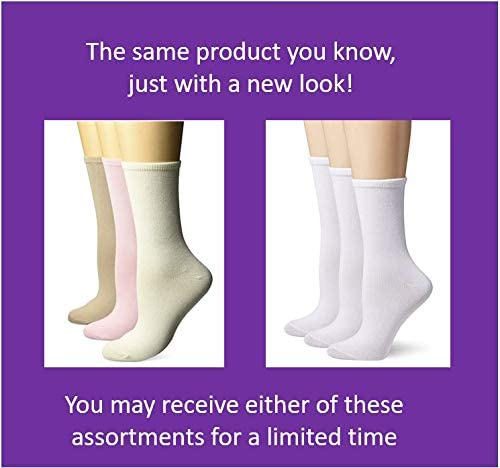 Hanes womens Comfortsoft Crew Socks 3-pack