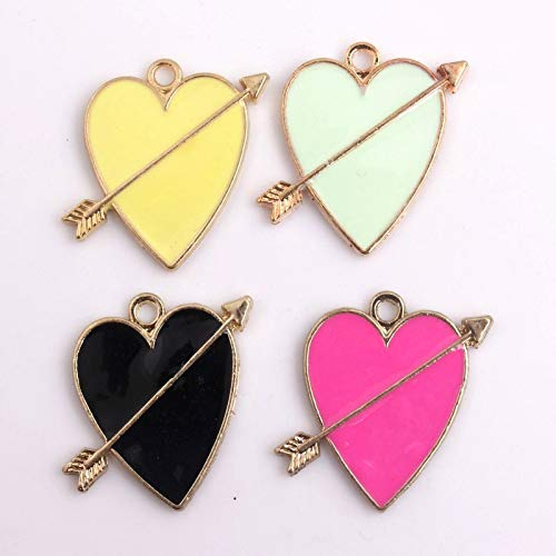 Pendants Bracelets - Alloy Heart Colorful Enamel Charms Pendants Handbag Fashion Jewelry 20pcs A Lot 23mm - Charm Pendants Enamel Charms Pendant Bracelets Women ()