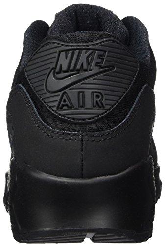 Nike Mens Air Max 90 Scarpa Da Corsa Essenziale Nero / Nero / Argento Metallizzato
