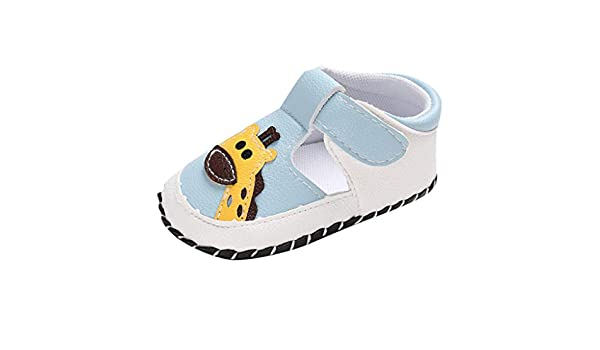 Youmymine Baby Girl Boy Soft Sole Cartoon Anti-Slip Casual Shoes First Walkers Prewalker Sneaker Toddler Sandals