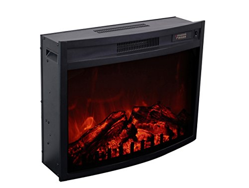 3G Plus Electric Fireplace Insert Heater Carbon Log Fuel Effect Adjustable  Flame Brightness W/Remote By 3G Plus