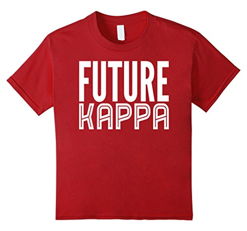 Kids Future Kappa 1911 Alpha Psi Legacy Kids and Boys T-shirt 12 Cranberry