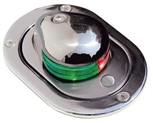 (Aqua Signal Stainless Steel Hideaway Bi-Color Navigation Light Deck Mount)