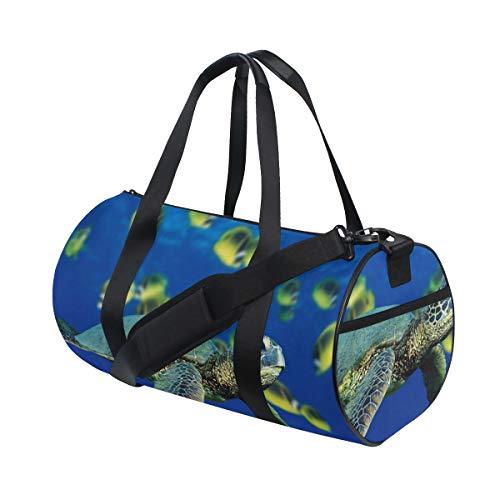 OuLian Duffel Bag Sea Turtle Coloring Women Garment Gym Tote Bag Best Sports Bag for Boys