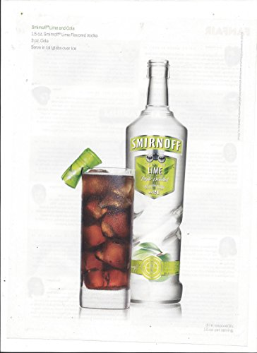 Smirnoff Lime Vodka - MAGAZINE ADVERTISEMENT For 2006 Smirnoff Vodka Lime And Cola