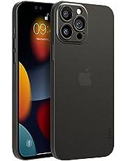 memumi-Fodral för iPhone 13 Pro Max, Ultratunn 0,3 mm Skal för iPhone 13 Pro Max (6,7 '' 2021), Matt Yta Extra Tunn Omslag, Anti-Rep och Fingeravtrycksbeständigt Fodral-Trans-Svart