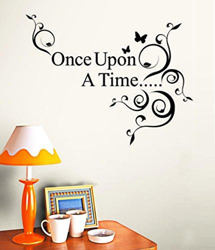 Usstore Once Upon a Time Wall Stickers Nursery Family Home R