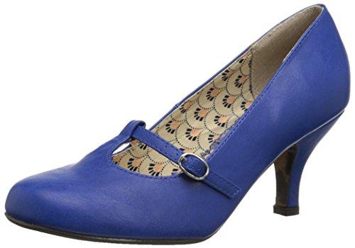 Bettie Page Women's BP310-Cassie Dress Pump Blue 5ehMjl2F6
