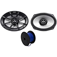 (2) Kicker 40PS694 6x9 180w ATV/UTV/RZR/Motorcycle/Polaris Speakers+Marine Wire