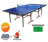 Koxton Table Tennis Table-Club (Free Tt Table Cover + 2 Tt Bats & 3 Balls)