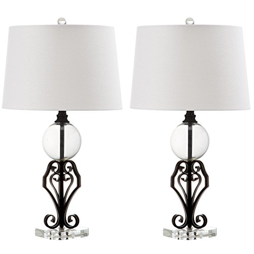 Anderson Collections Set - Safavieh Lighting Collection Anderson Black 27-inch Table Lamp (Set of 2)