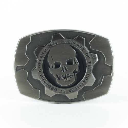 Metal Licensed Belt Buckle (Belt Buckle - Gears of War Silver Metal New Anime Licensed)