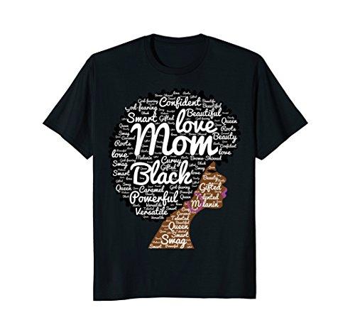 Black History Month Afro Word Art Natural Hair T-Shirt