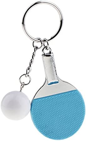 全3色 キーリング キーチェーン ミニ 卓球 ラケット ペンダント 可愛い バッグチャーム 吊り飾り