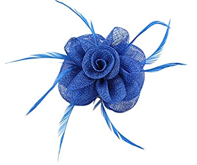 La Vogue Lady Fascinator Flower Feather Brooch Hair Pin Cocktail Wedding Church