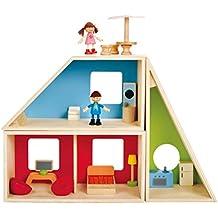 Hape Geometrics Kid's Wooden Doll House