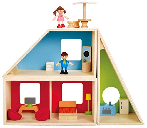 Hape Geometrics Kid's Wooden Dollhouse