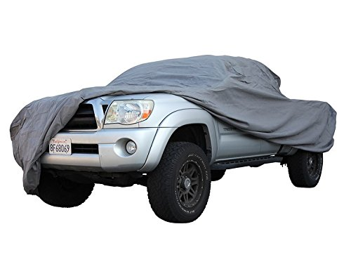 Ready fit Covers for TOYOTA TACOMA DOUBLE CAB SHORT BED TRUCK 2018 UV Protection Vehicle Accessories Breathable Car Cover Indoor Outdoor Protection Dust, UV Rays, Mist, Elastic Hems and Bonus Bag